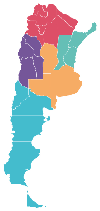 Argentina Destinations Travel And Tours Furlong Incoming - Argentina regions map